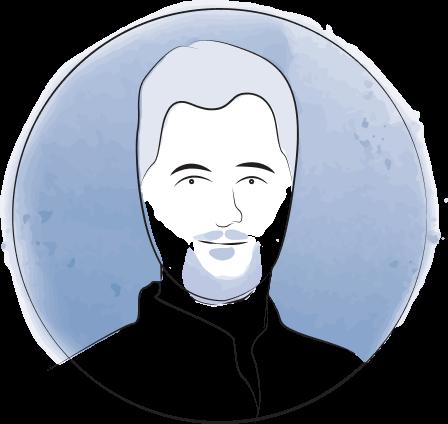 Illustration portrait of Jeff McSpadden
